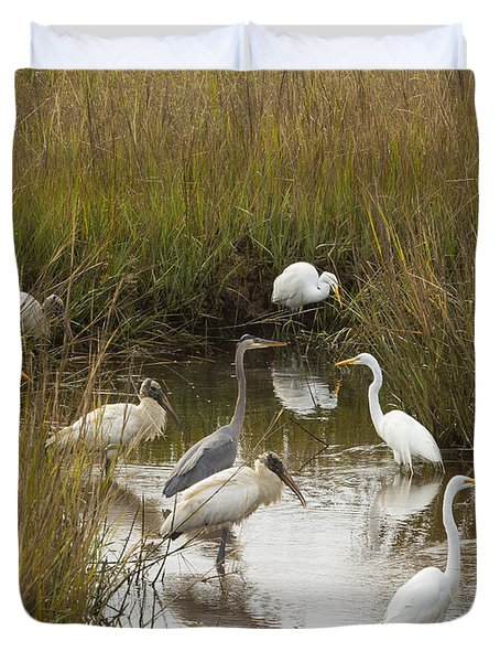 Bird Brunch Duvet Cover