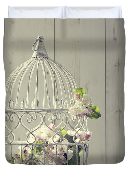 Bird Cage Duvet Cover by Amanda Elwell
