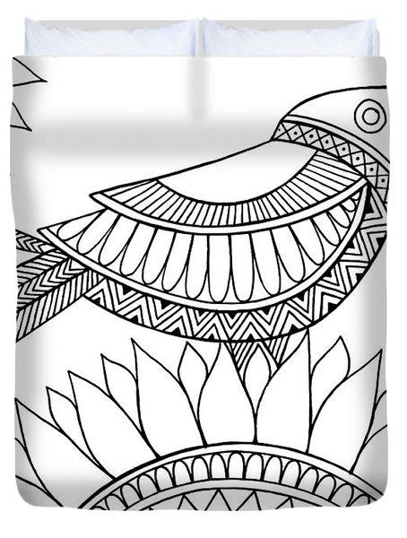 Bird Crow Duvet Cover