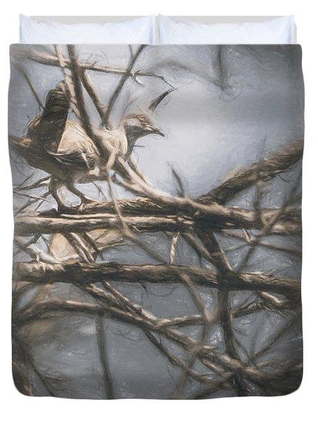 Bird From Woodslost Way Duvet Cover
