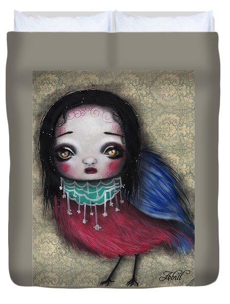 Bird Girl #2 Duvet Cover