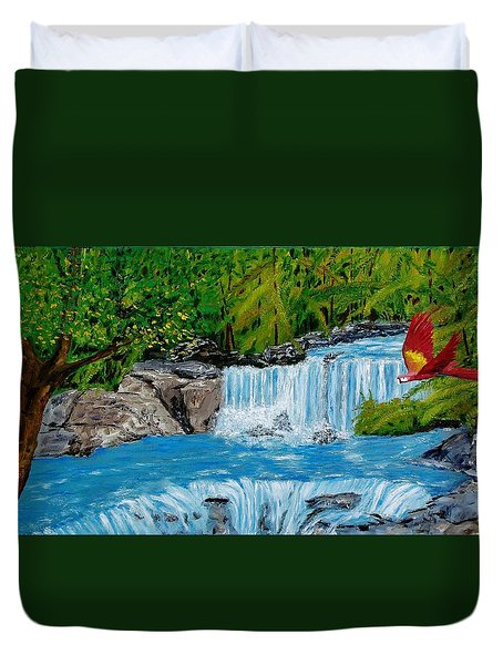 Bird In Paradise Duvet Cover by Mike Caitham
