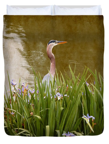Bird In The Water Duvet Cover by Milena Ilieva