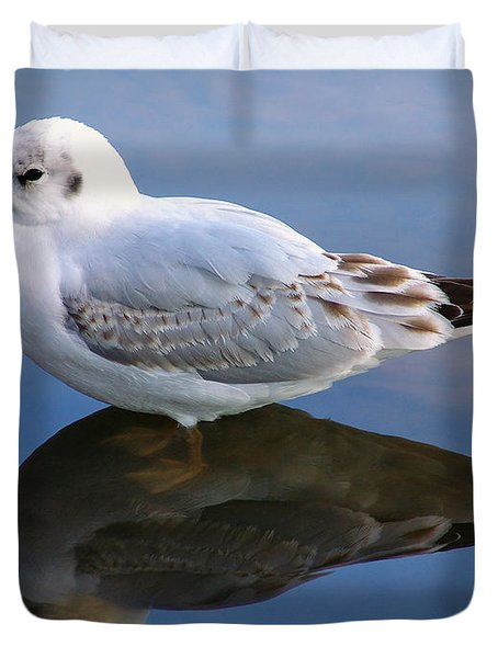 Bird Reflections Duvet Cover