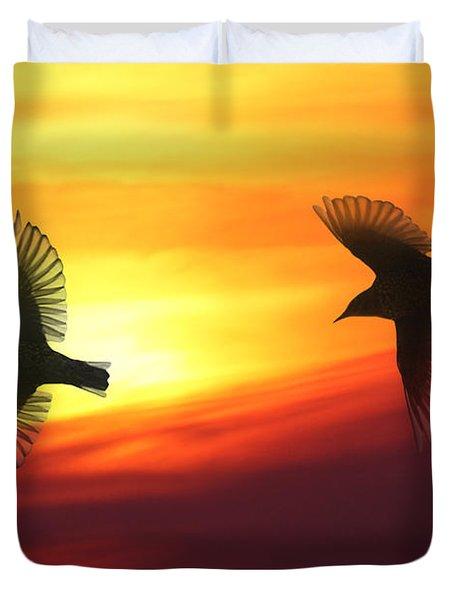 Bird Lovers Duvet Cover