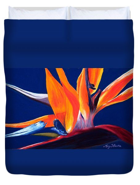 Bird Of Paradise Duvet Cover by Mary Benke