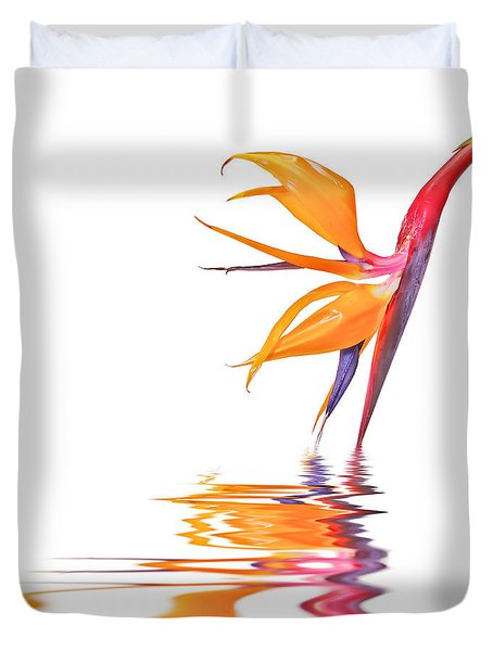 Bird Of Paradise Reflections Duvet Cover