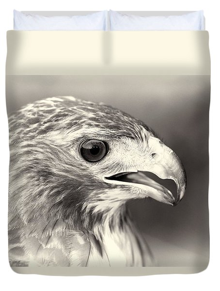 Bird Of Prey Duvet Cover by Dan Sproul