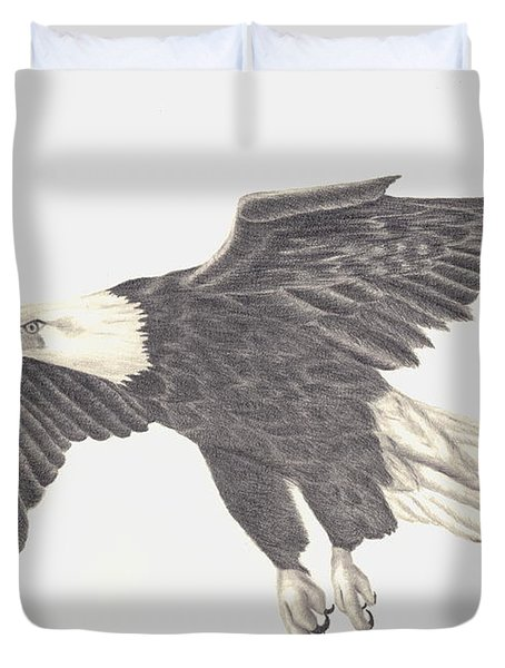 Bird Of Prey Duvet Cover by Patricia Hiltz