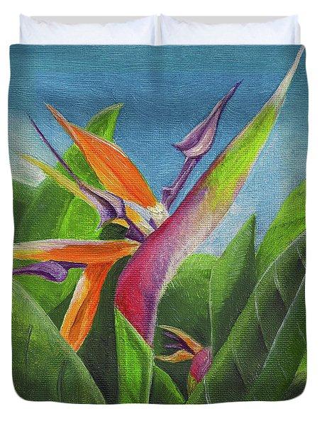 Hawaiian Bird Of Paradise Duvet Cover