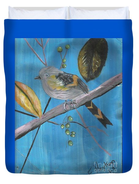 Bird On A Branch  Duvet Cover
