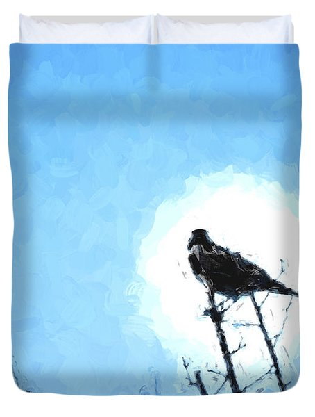 Bird On A Branch Duvet Cover by Ken Frischkorn