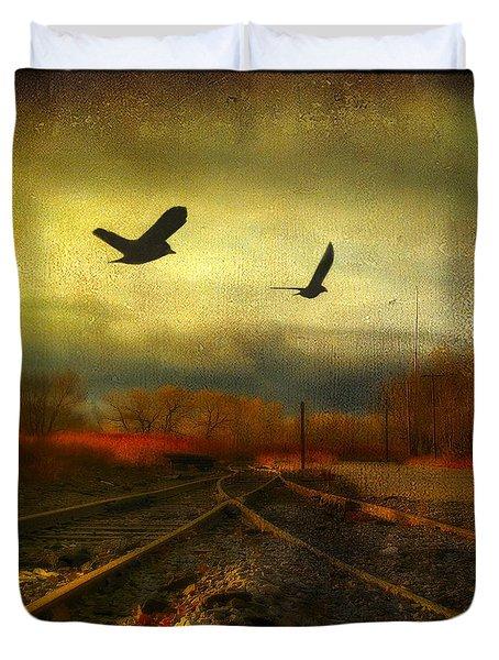 Country Bird Rail Duvet Cover