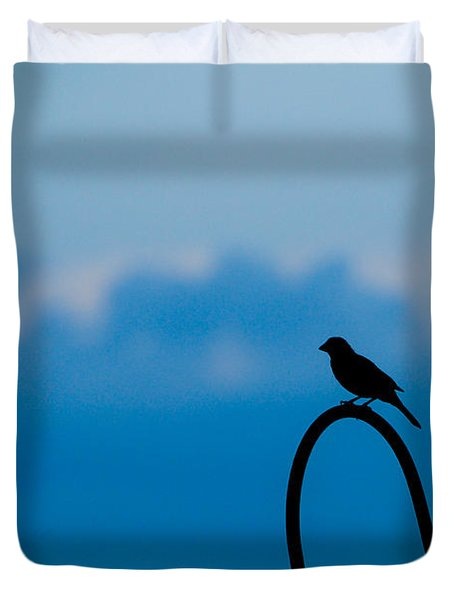 Bird Silhouette  Duvet Cover by Dee Dee  Whittle