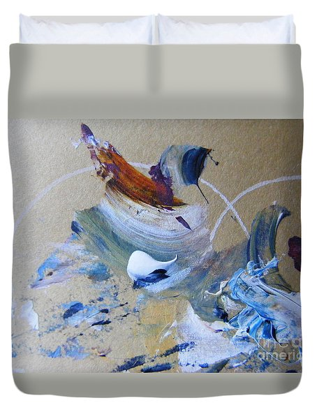 Duvet Cover featuring the painting Bird Song by Nancy Kane Chapman