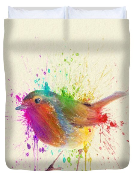 Bird Study Duvet Cover by Taylan Apukovska