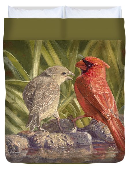 Bird Talk Duvet Cover