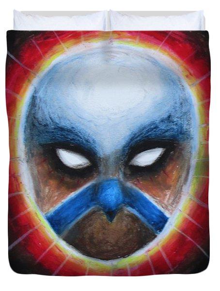 Bird Totem Mask Duvet Cover