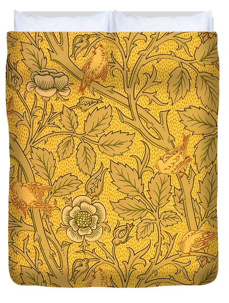 Bird Wallpaper Design Duvet Cover by William Morris