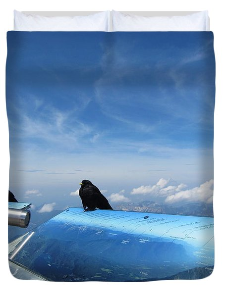 Duvet Cover featuring the photograph Bird Watch by Pema Hou