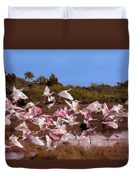 Birds Call To Flight Duvet Cover