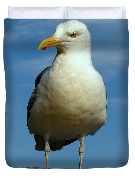 Duvet Cover featuring the photograph Bird's Eye View by Caroline Stella