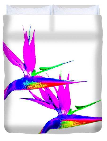 Birds Of Paradise Duvet Cover by Art Block Collections