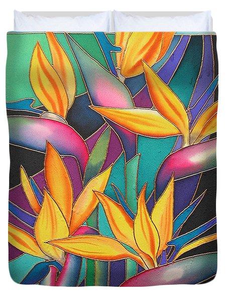 Birds Of Paradise Duvet Cover by Maria Rova