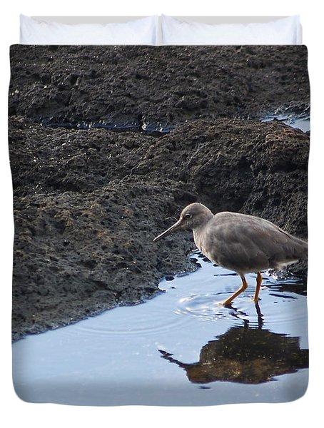 Bird's Reflection Duvet Cover by Belinda Greb