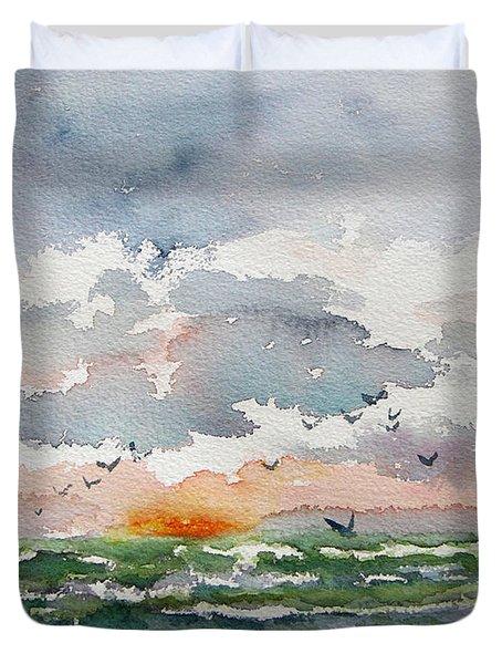 Birds Rising IIi Duvet Cover