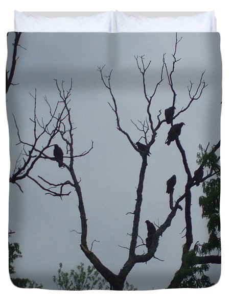 Duvet Cover featuring the photograph Birds by Fortunate Findings Shirley Dickerson