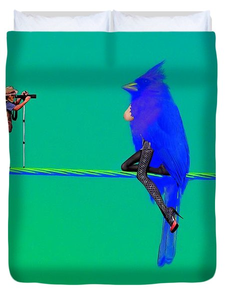 Birdwatcher Duvet Cover by David Mckinney