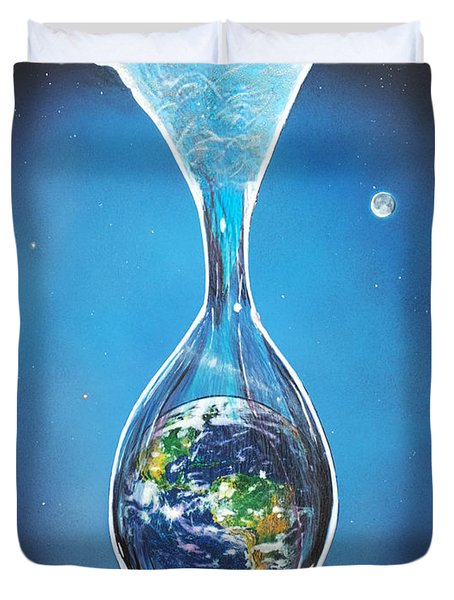Birth Of Earth Duvet Cover