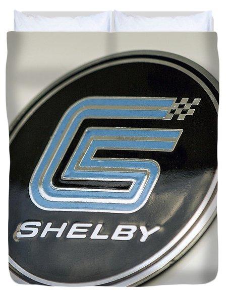 Birthday Car - Shelby Logo Duvet Cover