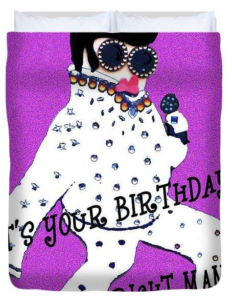 Birthday Mama Duvet Cover