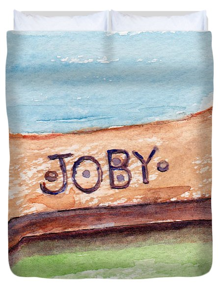 Biscuit For Your Dog Duvet Cover by Julie Maas