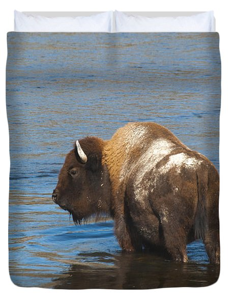 Bison Crossing River Duvet Cover