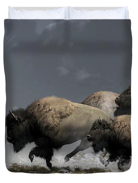Bison Stampede Duvet Cover