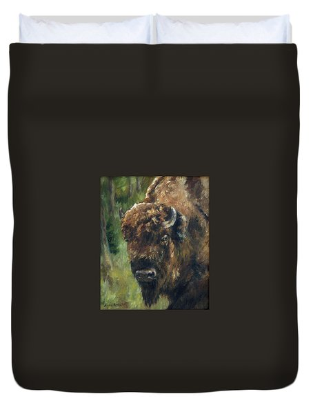 Bison Study - Zero Three Duvet Cover