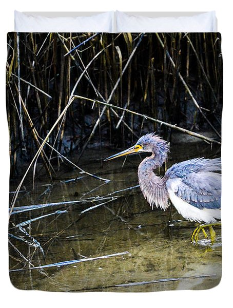 Bittern At Dusk  Duvet Cover