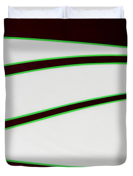 Duvet Cover featuring the photograph Black And Green by Joe Kozlowski