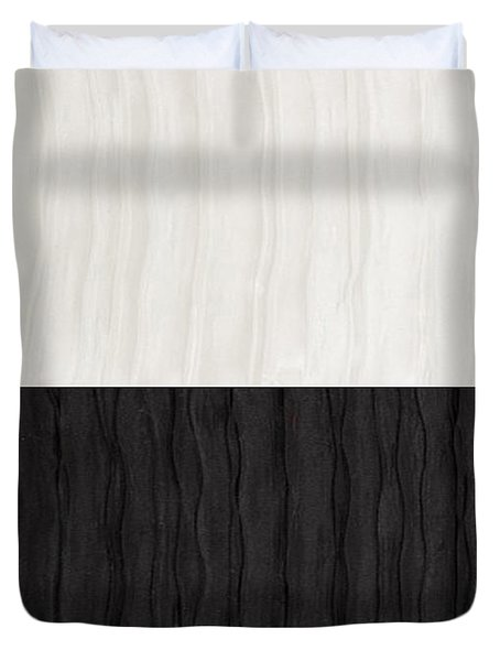 Black And White Attraction Duvet Cover by Margaret Ivory