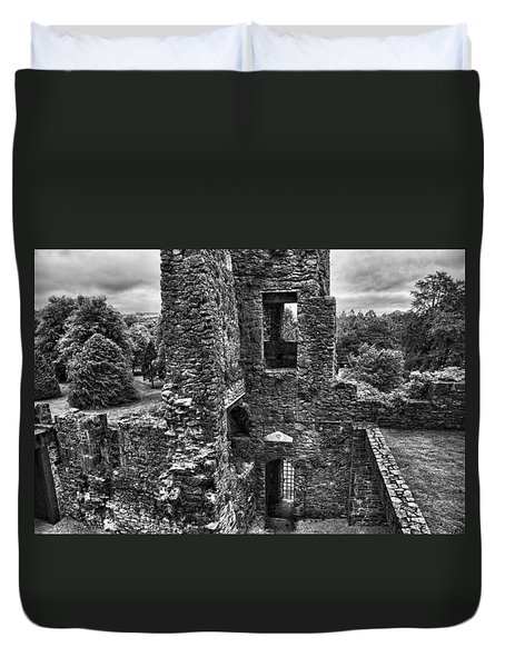 Black And White Castle Duvet Cover
