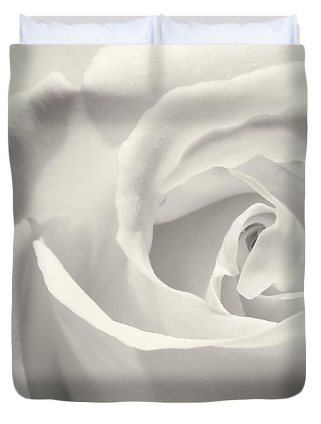 Black And White Curves Duvet Cover by Sabrina L Ryan
