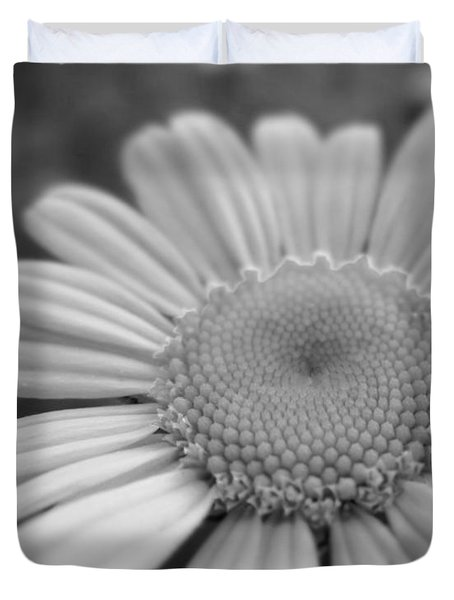 Black And White Daisy Duvet Cover