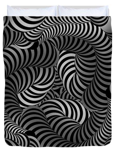 Black And White Illusion Duvet Cover