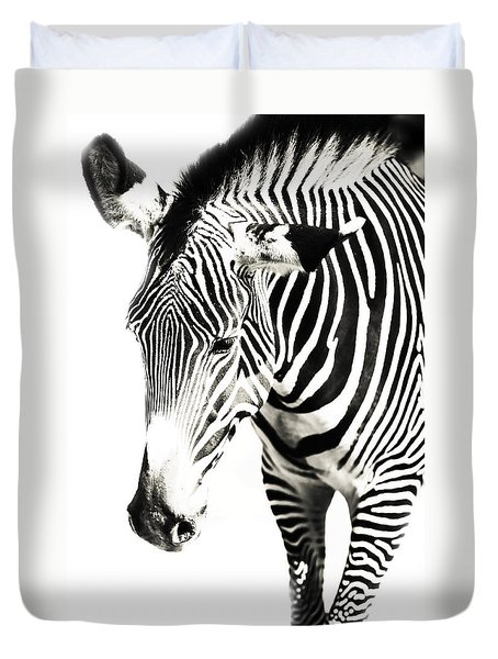 Black And White Duvet Cover by Jenny Rainbow