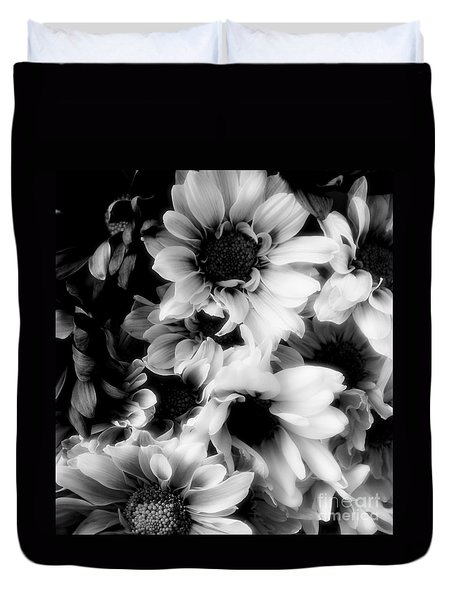 Black And White Duvet Cover by Kathleen Struckle
