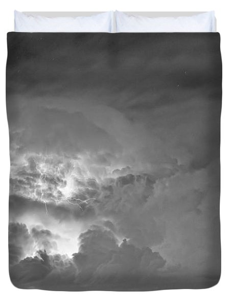 Black And White Light Show Duvet Cover by James BO  Insogna