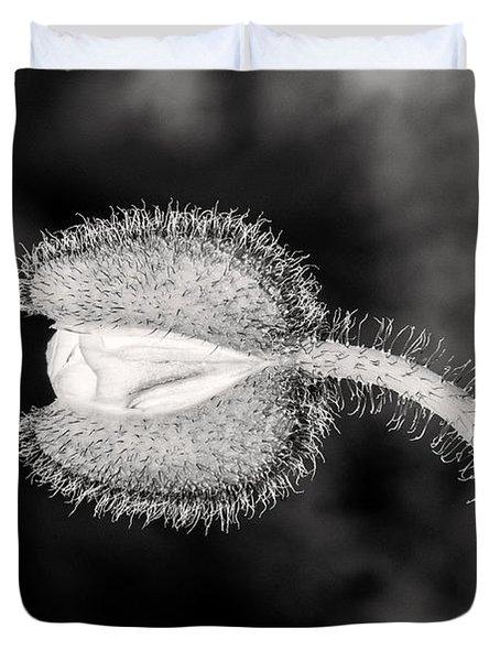 Black And White Poppy Duvet Cover
